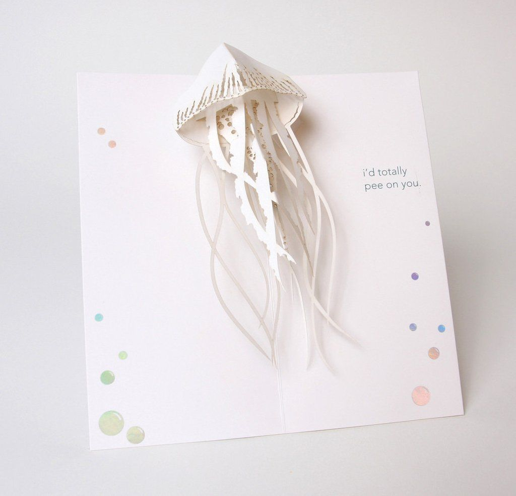 Jellyfish Pop Up Greeting Cards Paper Pop Pop Up Cards