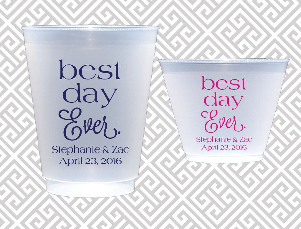 Personalized plastic cup, shatterproof cup, wedding cup set, wedding ...