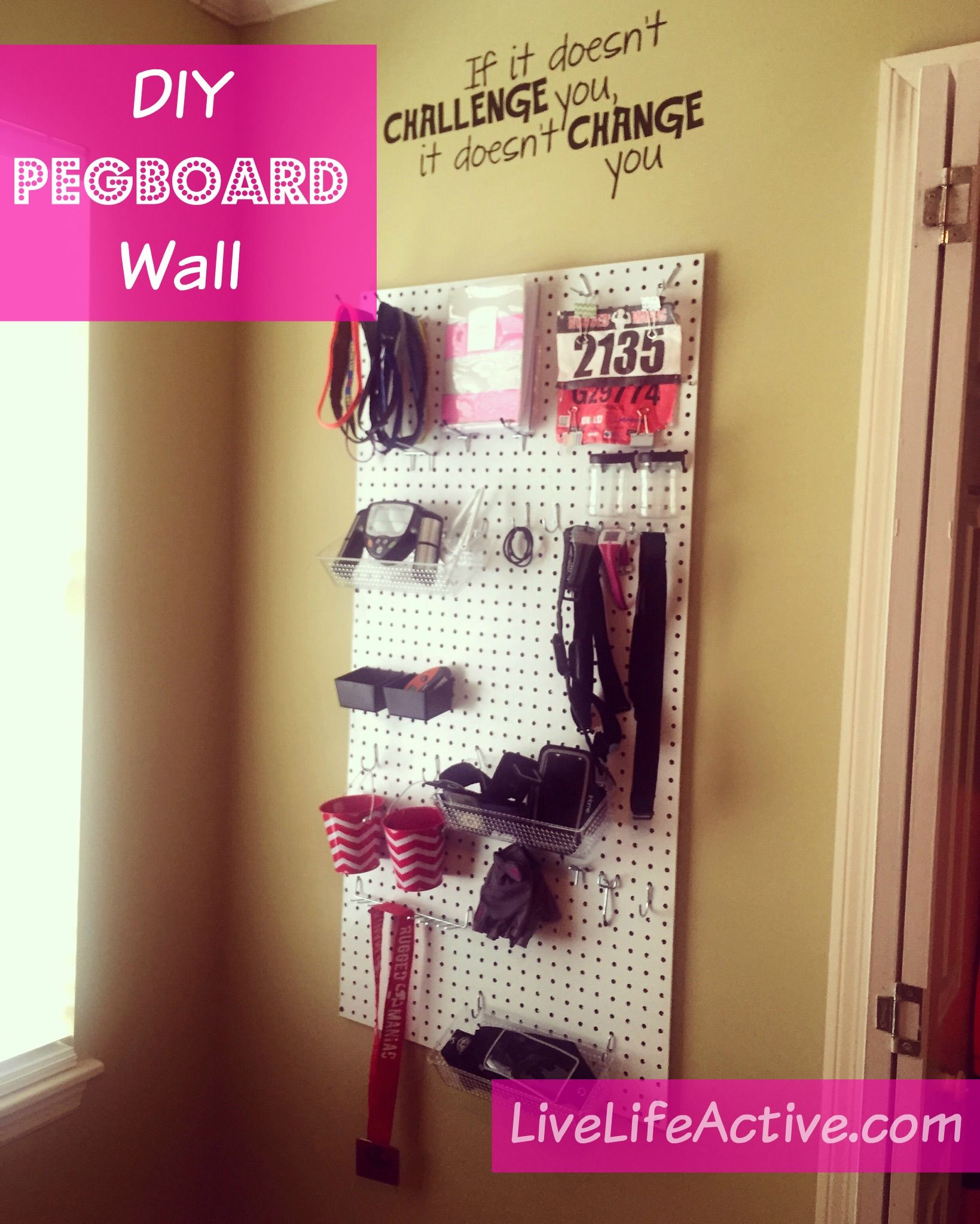 42 Tutorial Gorgeous Example Home Gym Diy Pegboard Wall Live Life Active Fitness Blog Use Diy Home Gym Diy Gym Gym Room At Home