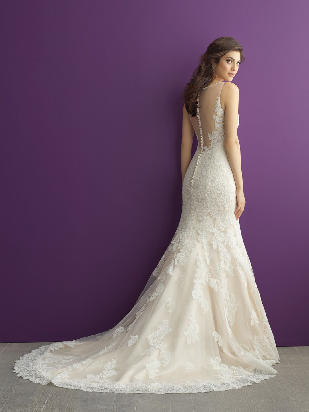 Allure Romance Wedding Dress Style 2963. An understated lace ...
