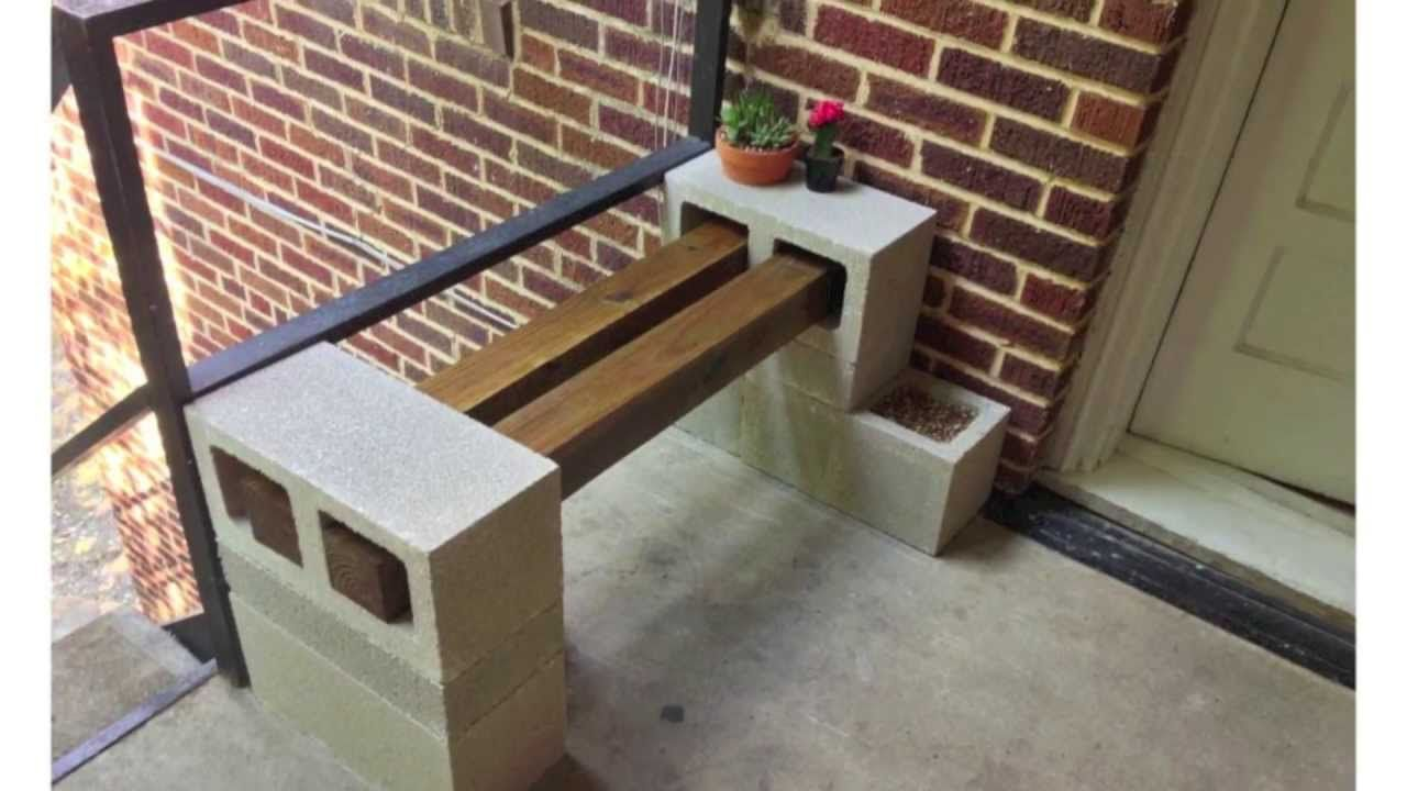 Awe Inspiring Cinder Block Bench 6 Blocks And 2 Beams Easy Peasy Spiritservingveterans Wood Chair Design Ideas Spiritservingveteransorg