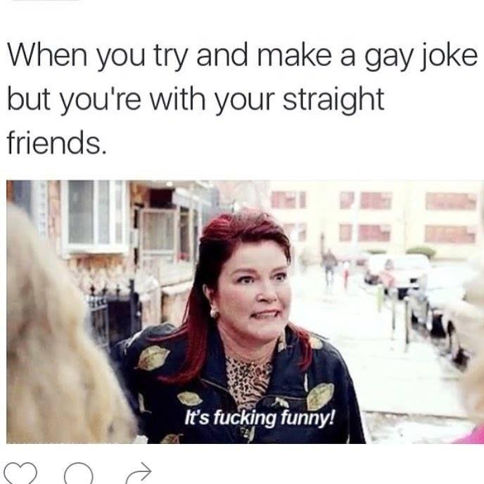 So gay joke