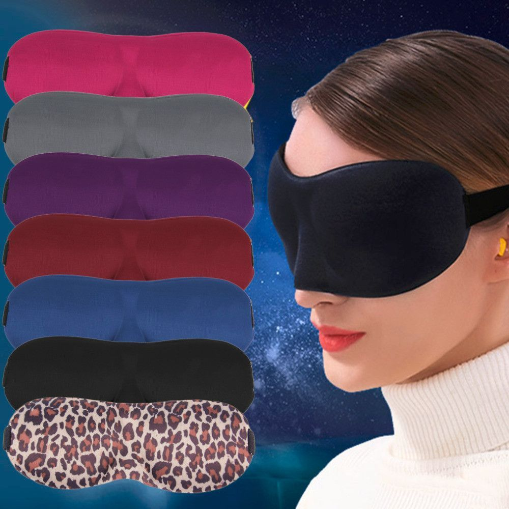 and 3D Sponge Eyeshade Sleeping Eye Mask,Travel Sleep Aid Eye Mask Cover Eye Patch Sleeping Mask Case