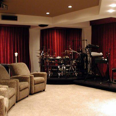 Contemporary Media Room Karaoke Room Design, Pictures, Remodel