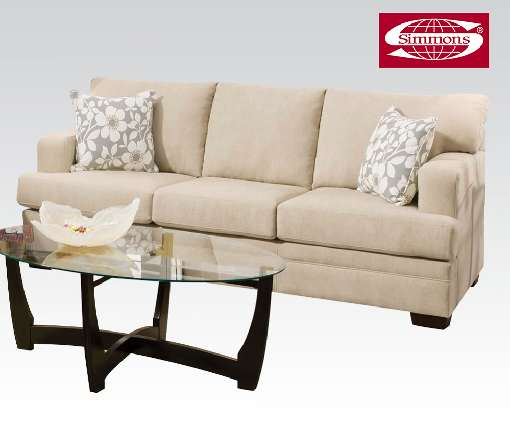 Simmons Norell Collection Caprice Truffle Fabric Sofa   furniture ...