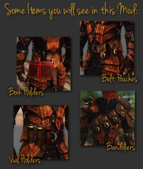 Bandolier Bags And Pouches At Skyrim Nexus Mods Community