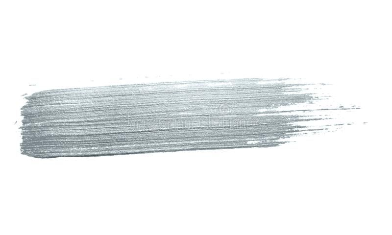 Silver Glitter Paint Brush Stroke Or Abstract Dab Smear With Smudge Texture On W Affiliate Dab Abstract Paint Brushes Brush Strokes Brush Stroke Tattoo