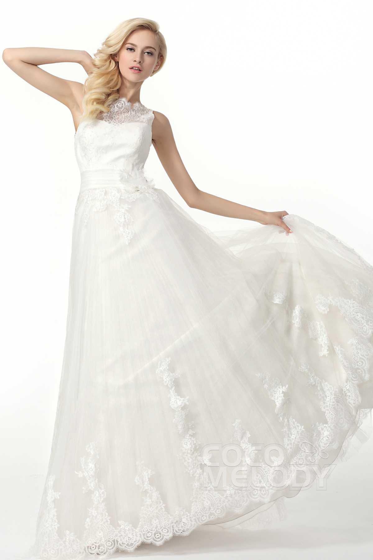 Classic+A-Line+Court+Train+Tulle+Wedding+Dress+Alb12322#cocomelody #weddingdress