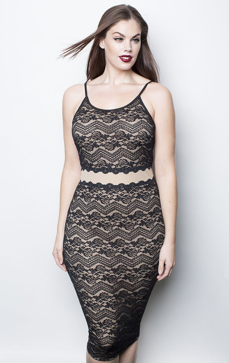 9c6519296035d Chloe Marshall. Nude Floral Lace Dress - Shop Women s Missy   Plus Size  Clothing