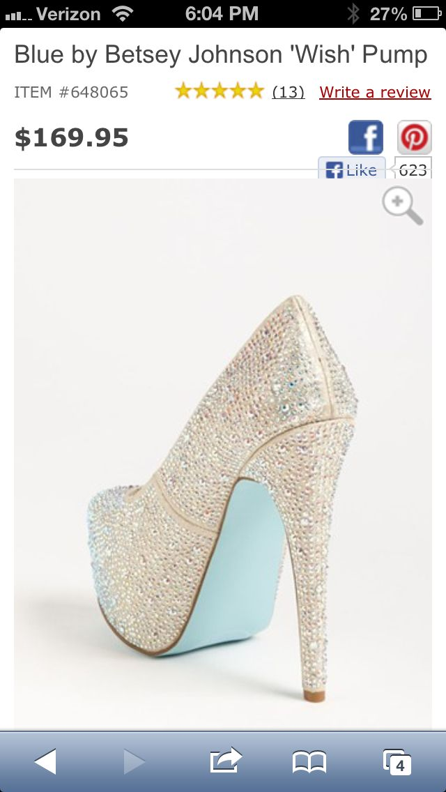Wedding shoes? And something blue!