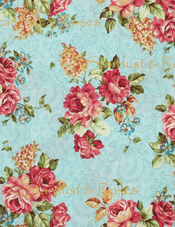 Shabby Chic Vintage Home Decor Pink-Red White Roses Floral Print Pattern  Antique Rose Mauve Wallpaper Paper