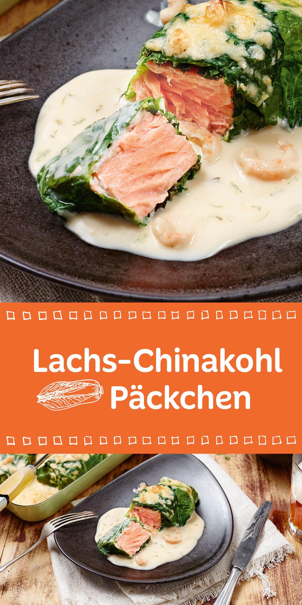 Ein feines Low-Carb-Rezept für dich. Lachs-Chinakohl-Päckchen. Kein großer Aufwand aber voller Genuss. Guten Appetit wünschen wir dir damit.