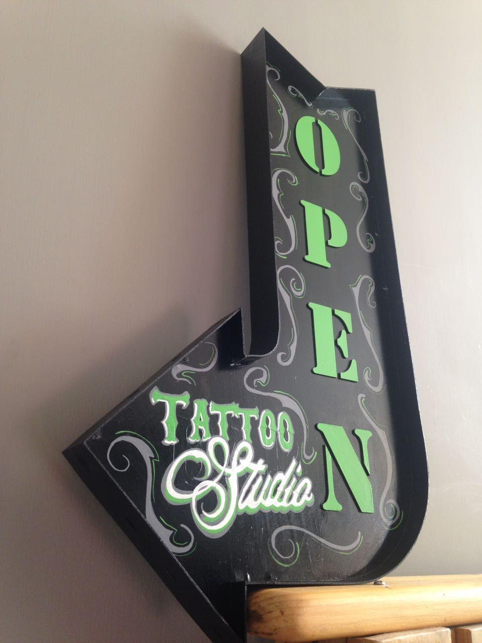 Letrero open tattoo studio letreros tatuajes y unicose