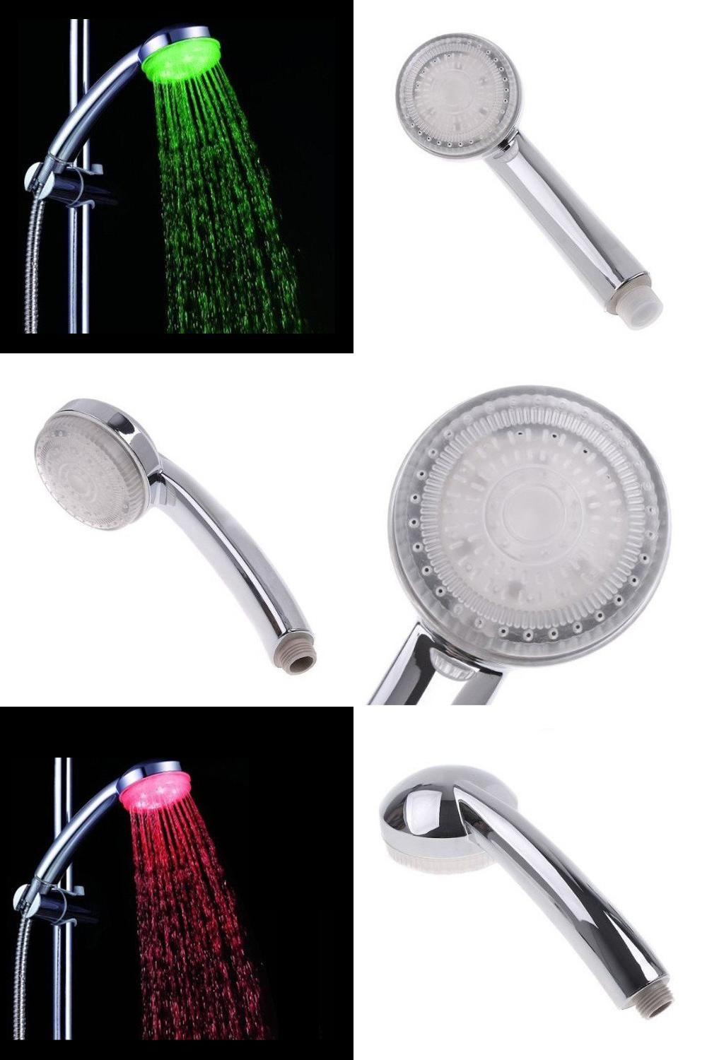 Visit To Buy 7 Colour Changing Light Faucet Plumbing Shower Head