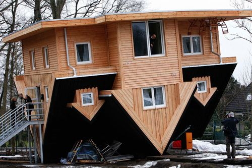 Crazy Upside-Down House in Germany by Gerhard Mordhorst The 23ft ...