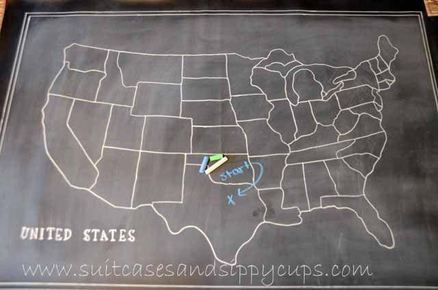 making a chalkboard map of the usa make pinterest chalkboards