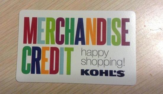 Kohl's Merchandise Credit / Gift Card - $33.90 https://t.co/bsk5ABsuj5 https://t.co/1K704ifsJz