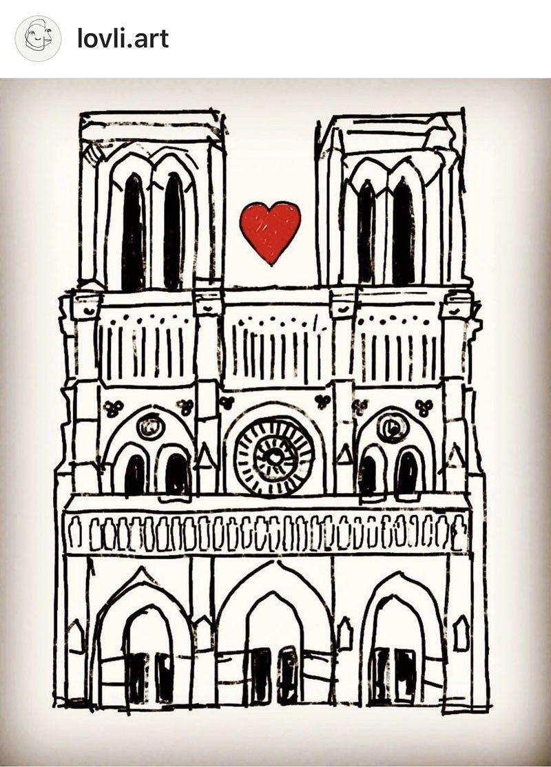 Artistic Tributes To The Notre Dame Cathedral From Illustrators Worldwide Paris Illustration Paris Artwork Paris Poster