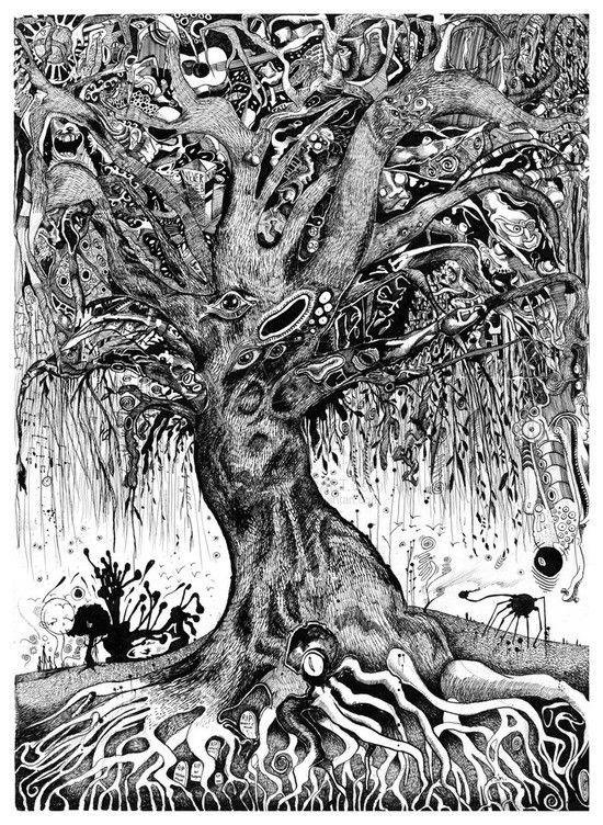 Dessin arbre mort art du stylo en 2019 art dessin et art graphique - Dessins arbre ...