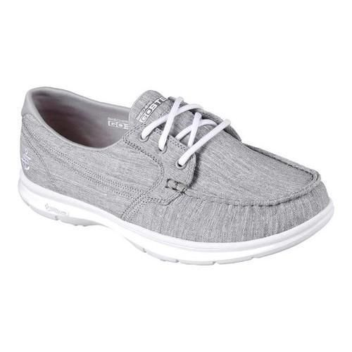 Skechers WomensLadies Go Step Jersey Marina Textile Canvas Casual Shoes