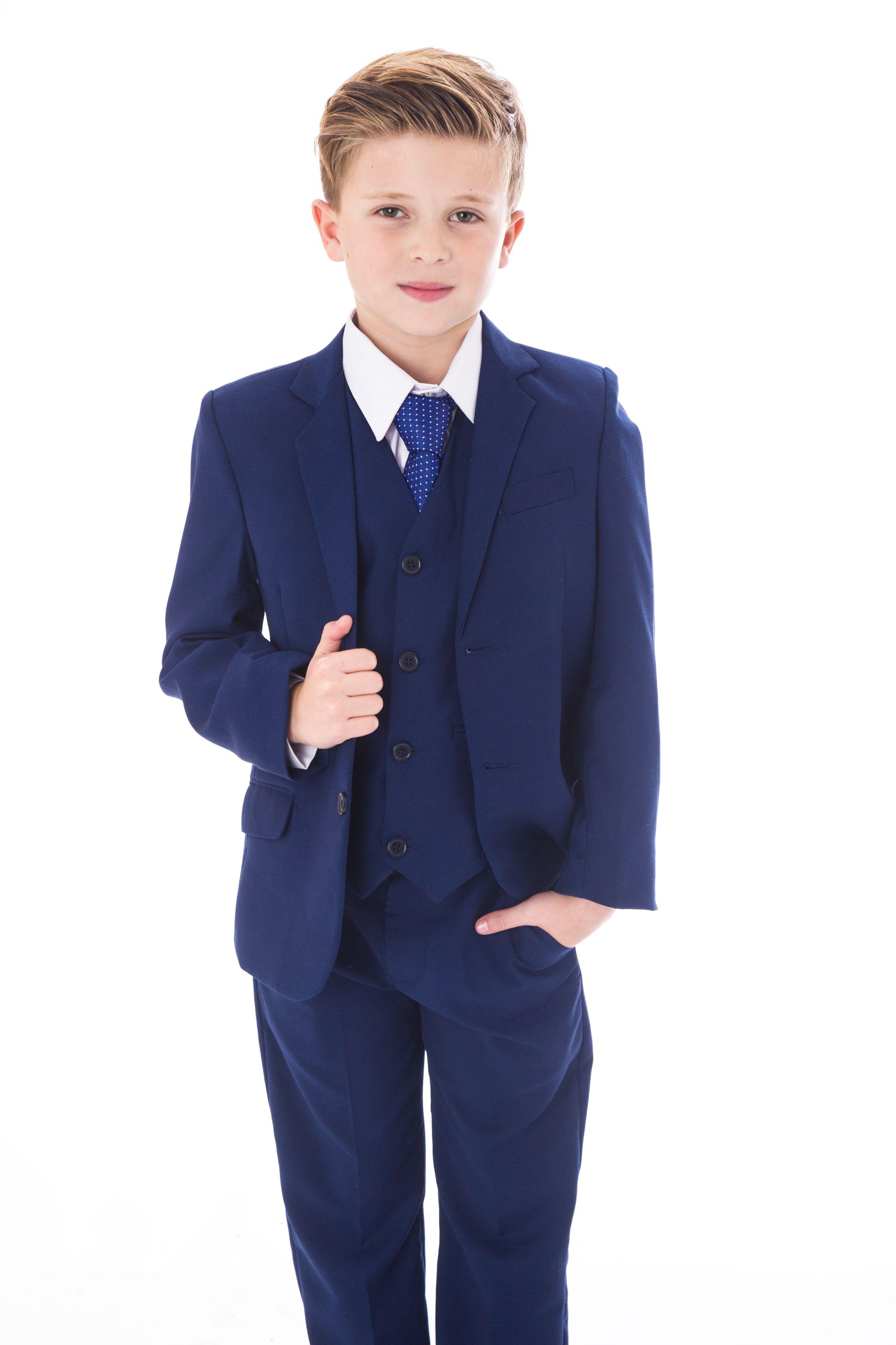 5pc Royal Blue boys suit  288a5fe16
