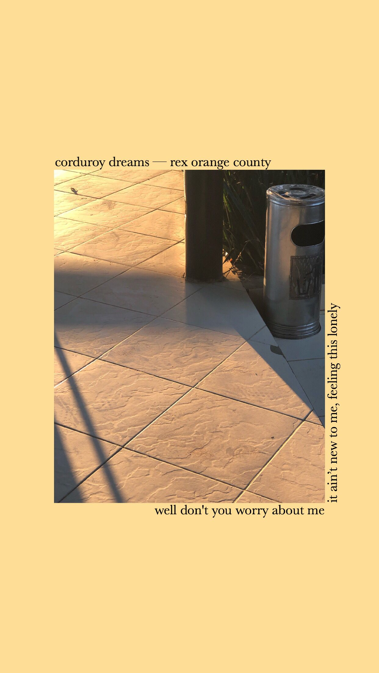 Corduroy Dreams Rex Orange County Aesthetic Wallpaper