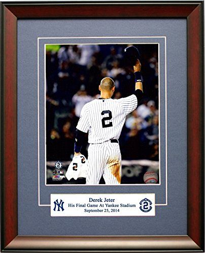 "Legends Gallery ""Tip Of The Cap"" New York Yankees Derek Jeter. The Captain Tips his Cap For The Last Time At Yankee Stadium Framed 8x10 Photograph : New York Yankees"