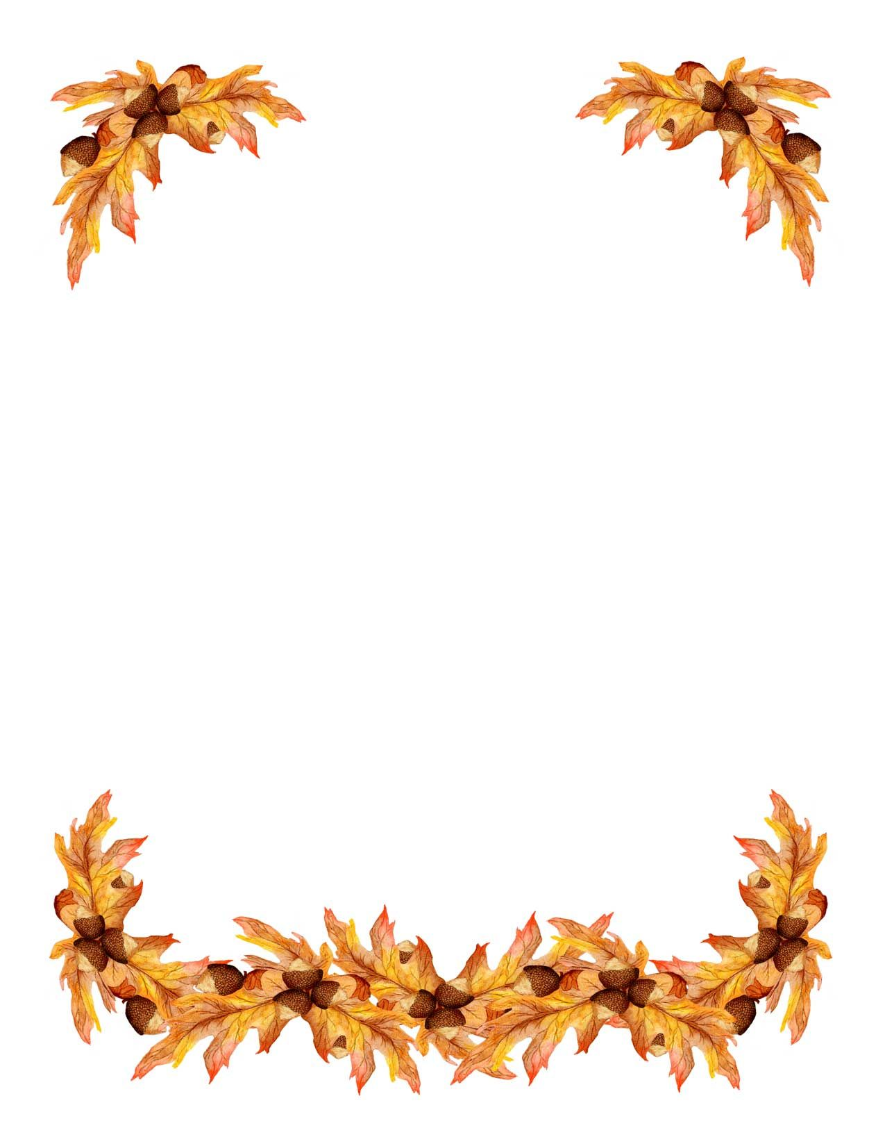 See 9 Best Images Of Printable Fall Border Clip Art Autumn Leaf Free Borders