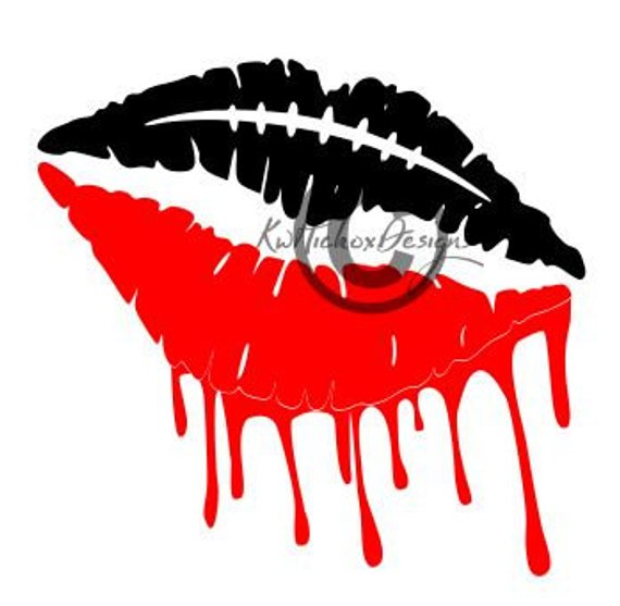 Distressed Football Svg Dripping Lips Svg Football Lips Svg