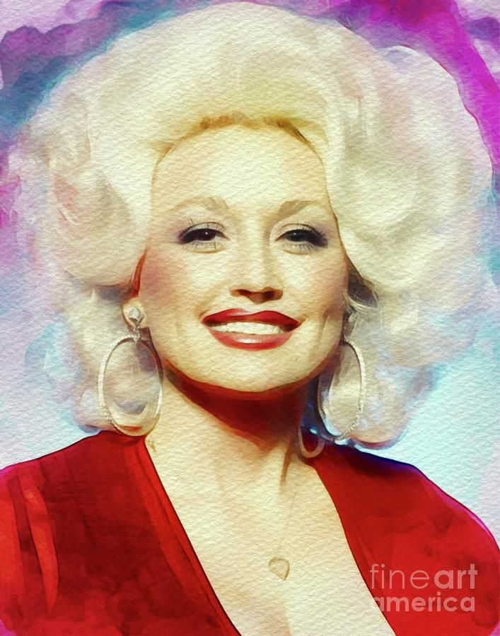Painting - Dolly Parton, Music Legend by Esoterica Art Agency #affiliate , #sponsored, #ad, #Parton, #Dolly, #Art, #Music