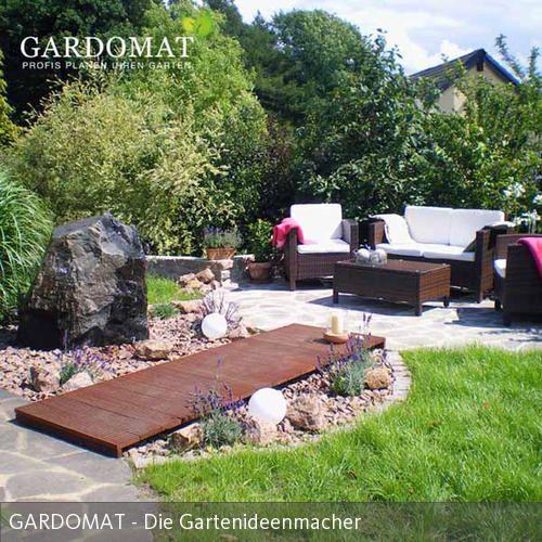 Mediterraner Garten Mit Sitzlounge Gartenideen Pinterest