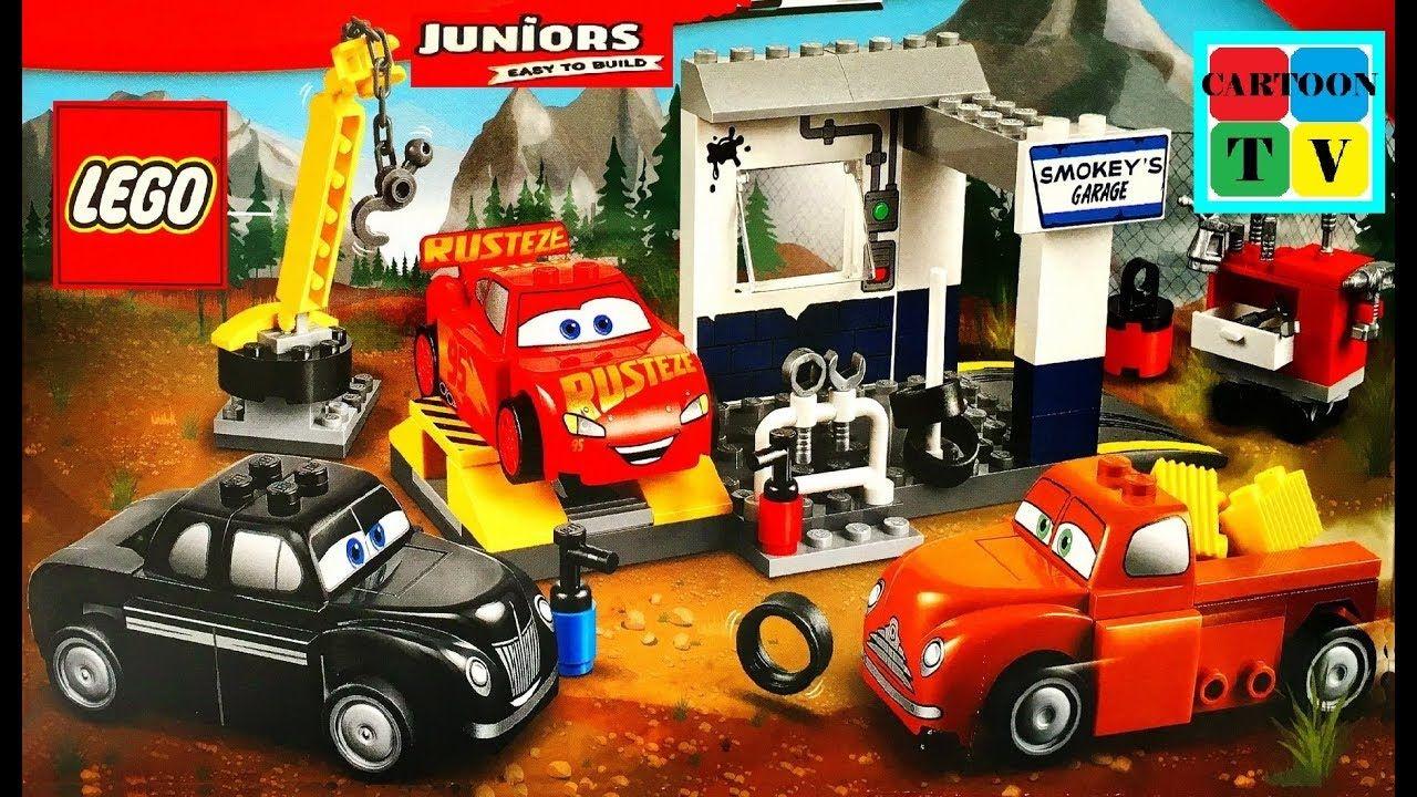 Lego Juniors Cars 3 Disney Pixar Smokey Garage Lightning