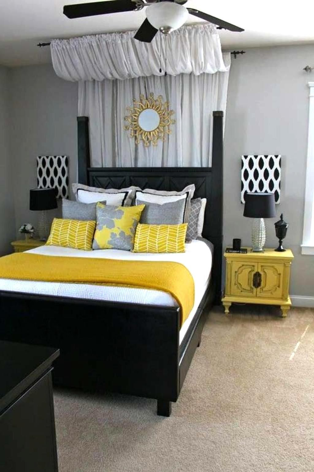 25 Elegant Black Bedroom Decorating Ideas Yellow Bedroom Decor