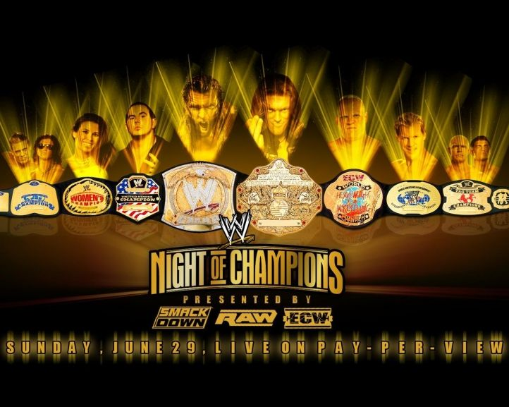 Night Of Champions Wwe Champions Wwe Wrestling Posters