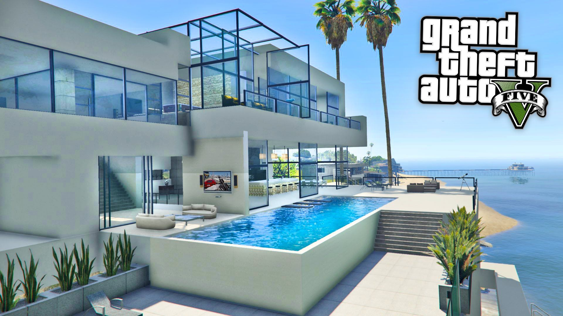 Gta 5 Mods Billionaires Mansions Mod Tour Gta 5 Mansions Mod Gamepla Arquitetura