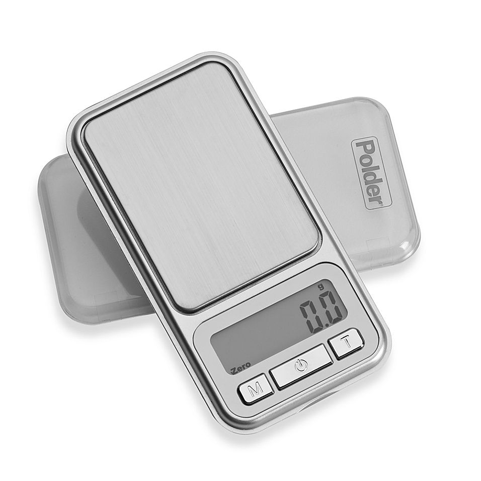 Polder Digital Pocket Portion Food Scale Silver Food Weight