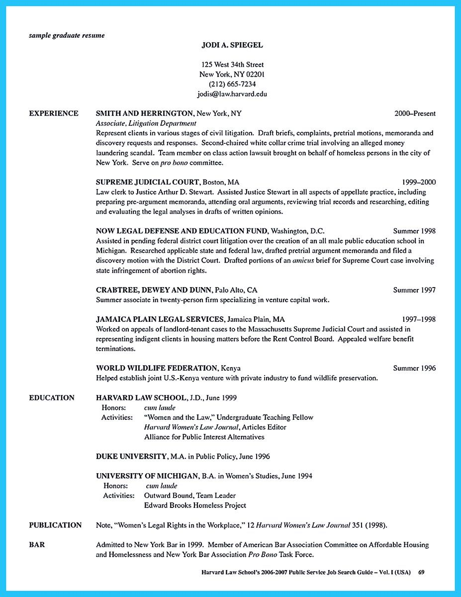 Sample Law School Resume What Is Your Purpose In Making Business School Resume It Should