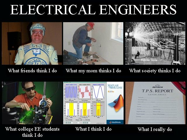 People Think That Computer Science Is The Art Of Geniuses: ELECTRICAL ENGINEER: What I Think I Do Vs. What I Do
