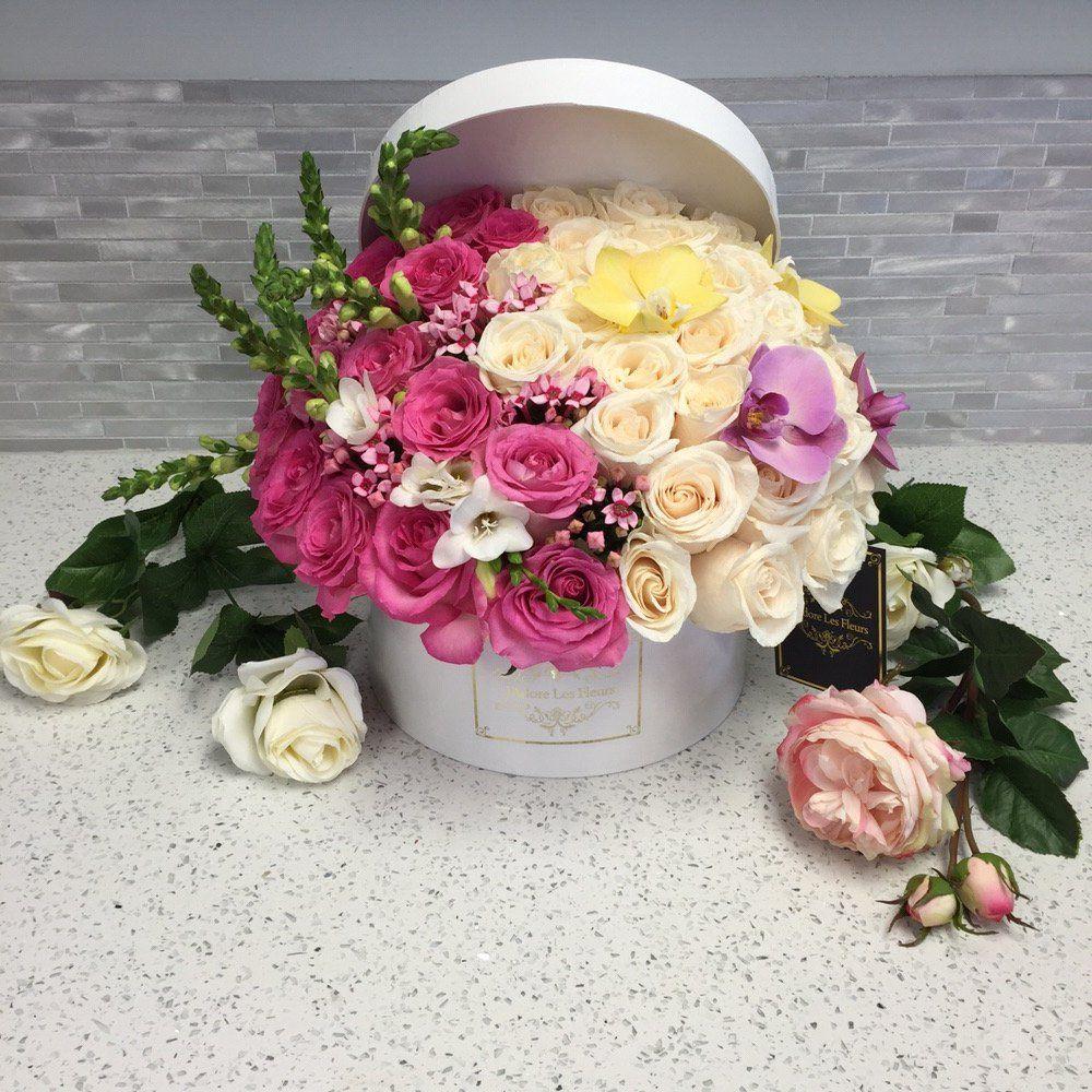 Jadore les fleurs bouquet roses elegant flowers hatbox flower jadore les fleurs photos luxury flowerselegant flowerspretty izmirmasajfo Gallery