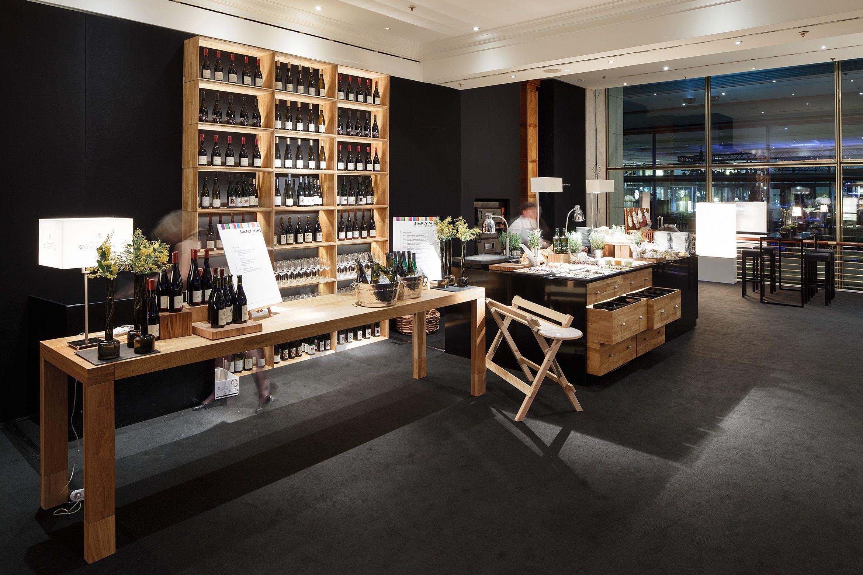 Temporary Buffet And Salumeria Setup Oak Black Event Design Interior Created