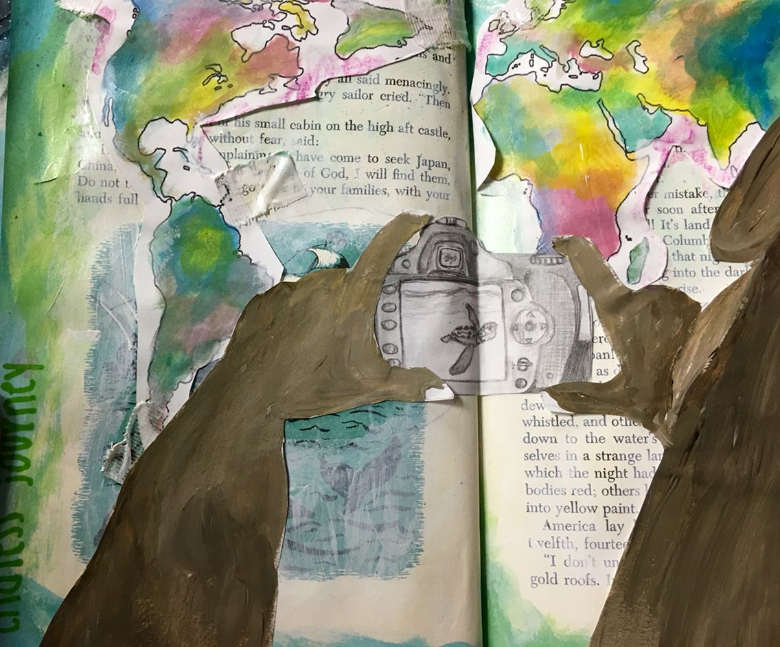 Altered Book #2 - Journey - NGHS Room 406 - Debi West's WOW Students!