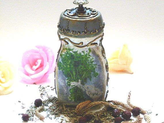 Hand Painted Canister Kitchen Canister Vintage by InspirellaDesign