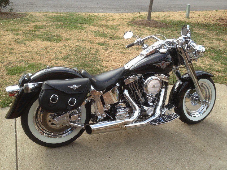 99 Fatboy Harley Davidson Old School Biker Motto