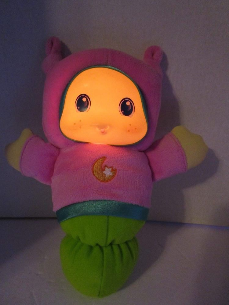 Baby S First Pink Glow Glo Worm 9 Soft Plush Musical Toy 2011