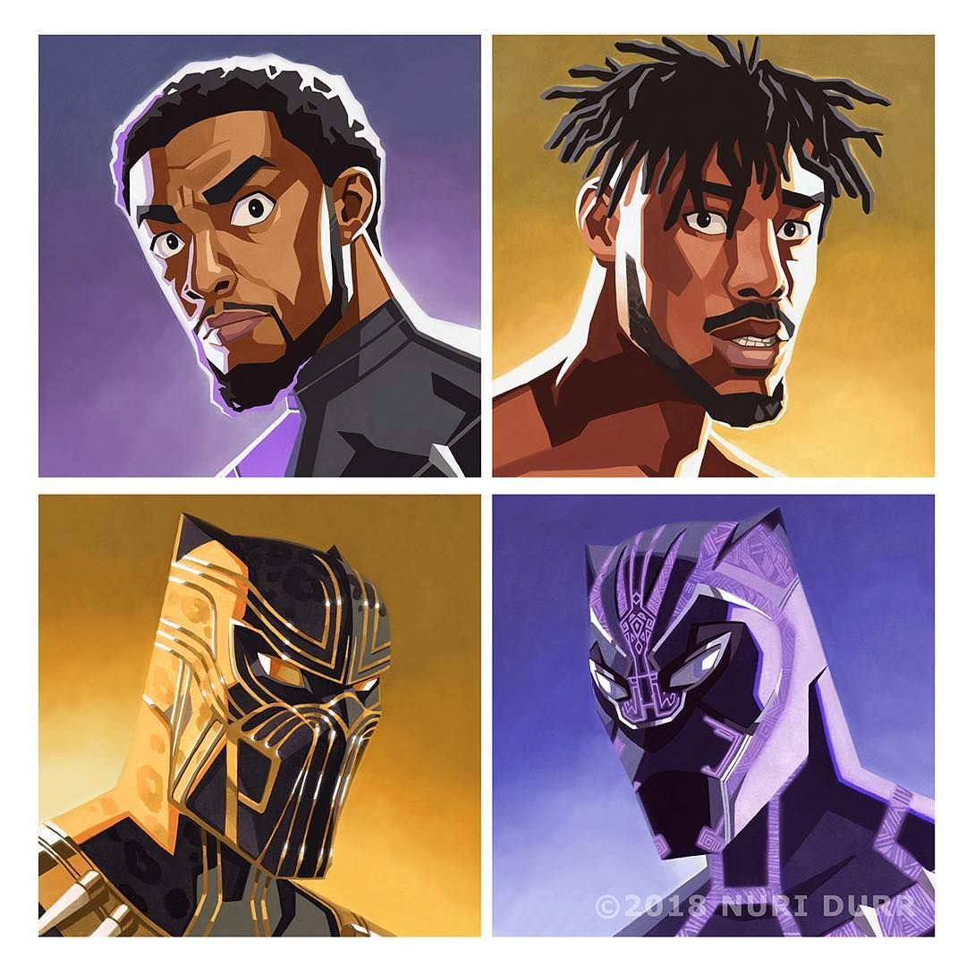 Image May Contain One Or More People Panther Print Black Panther Character Design