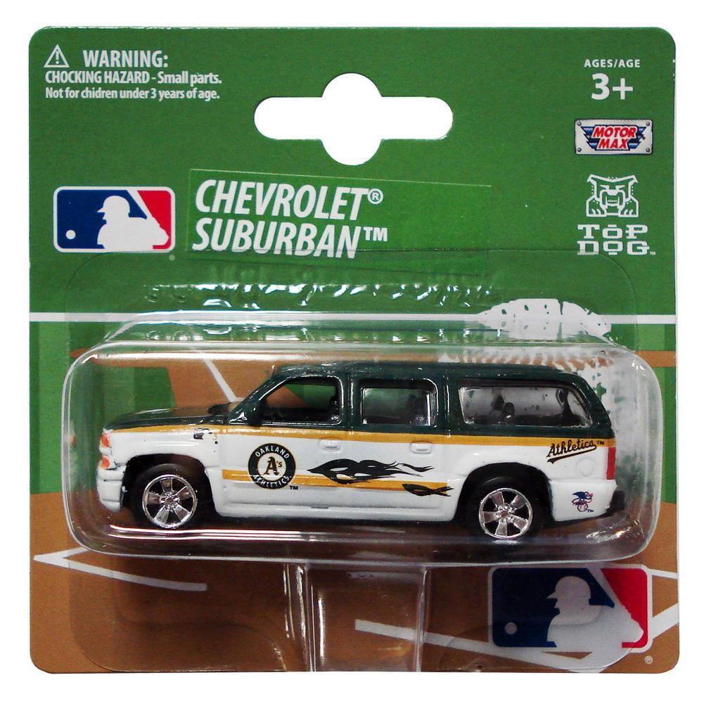 Major League Baseball Top Dog 1 64 Chevy Suburban Mlb Oakland Athletics With Images Oakland Athletics Chevy Suburban Sports Car Brands