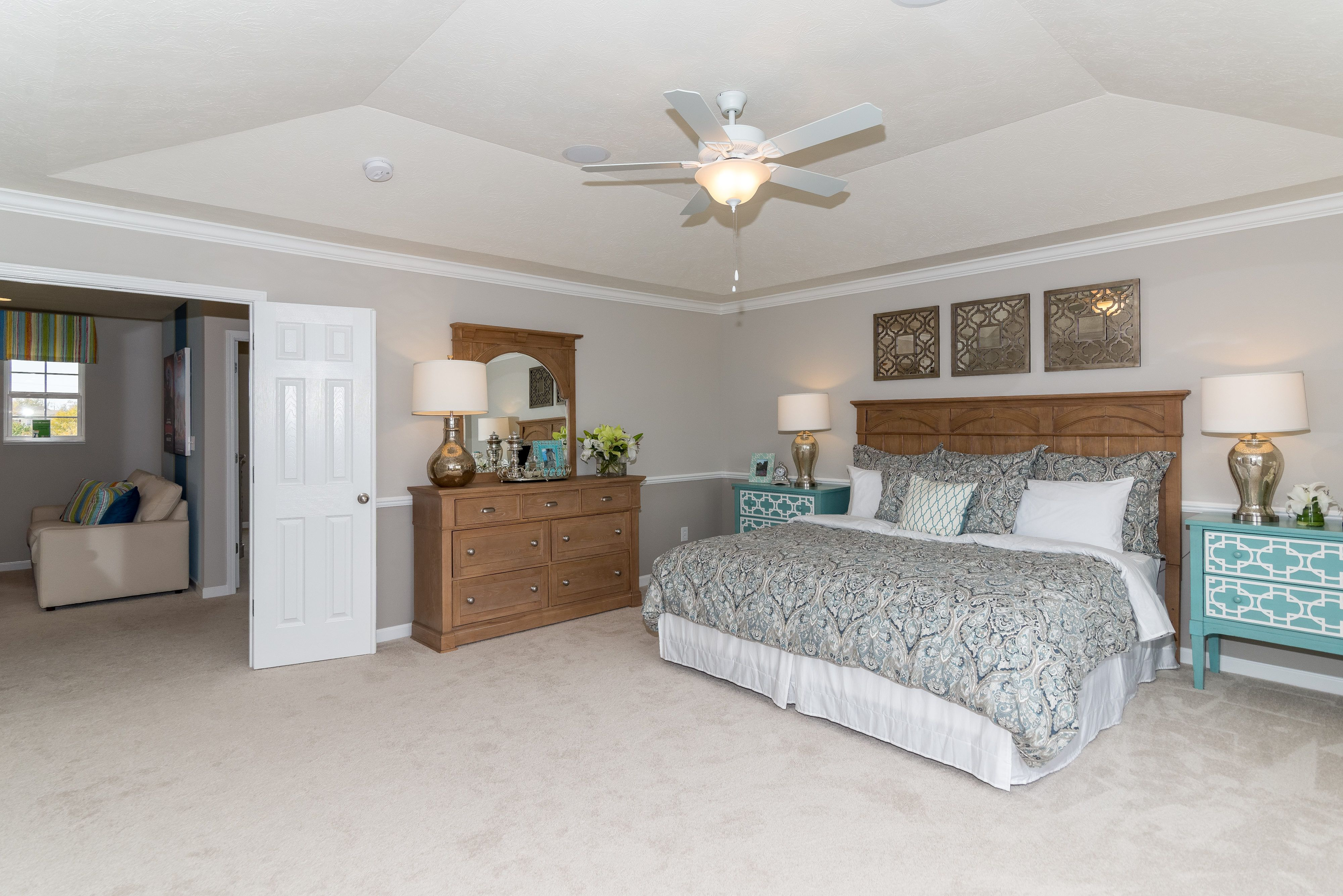 Spruce Master Bedroom with Double Doors Model homes
