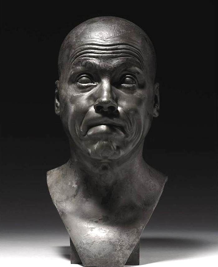 kutxx:  Franz Xaver Messerschmidt,Character Head: Incapable Bassoonist,1770-83, private collection