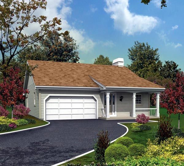 Country Ranch House Plans: Cabin Cottage Country Ranch Traditional House Plan 95818