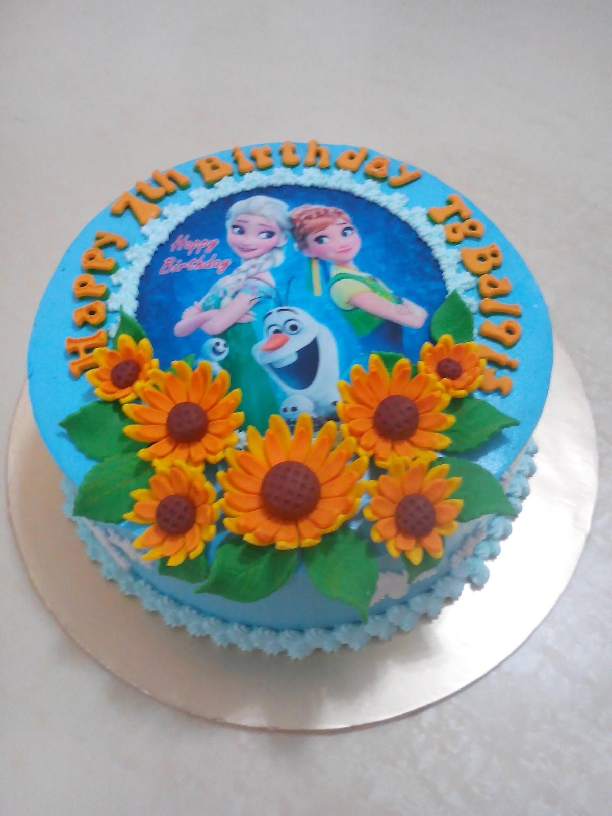 Mypu3 Cake House Frozen Fever Cake Cake Kids Cake